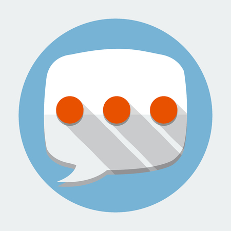 vector message: Vector Message Bubble Flat Icon
