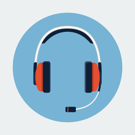 headset symbol: Headset icon Illustration