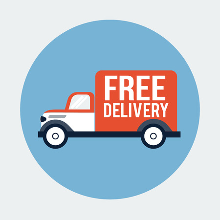 Delivery Truck Icoon Stockfoto - 27843745