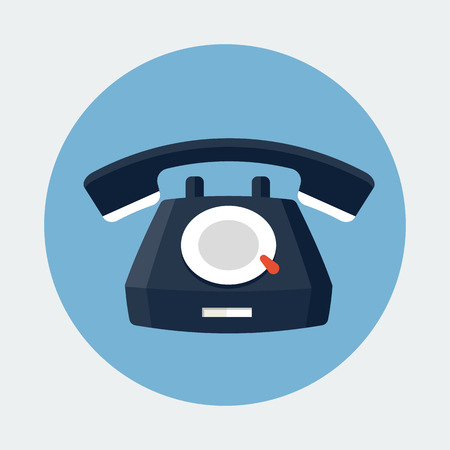 customer service phone: Telephone Icon Illustration
