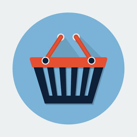 add to cart: Shopping Basket Icon Illustration
