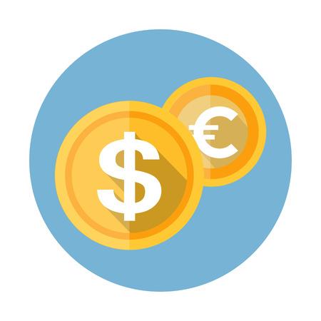 euro coins: Coin flat icon