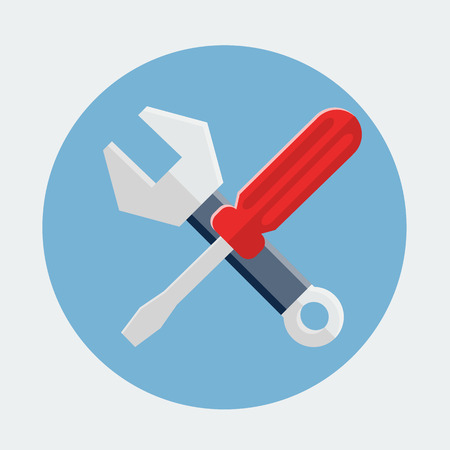 Screwdriver And Wrench,Settings Icon Illustration