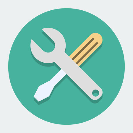 Screwdriver And Wrench Illustration