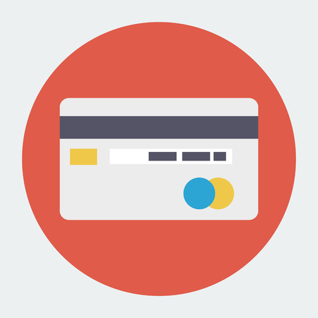 bank transfer: Vector Bank Credit Card Icon