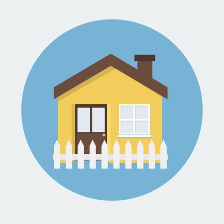 casale: casa icona piatta