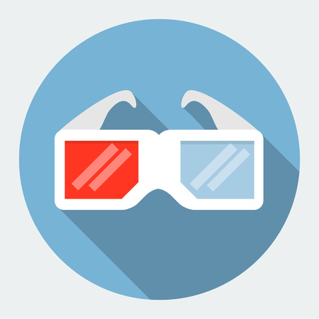 3d dimensional: 3d glasses icon