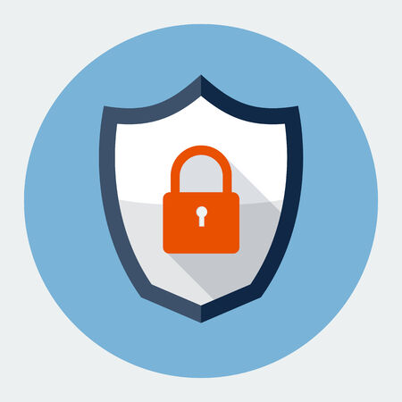 blue shield: security shield symbol icon