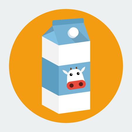 Vector milk box icon Vector