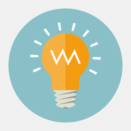 bright ideas: Vector light bulb icon
