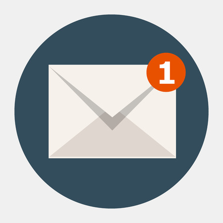 email contact: Vector email icon