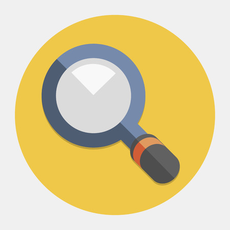 magnifying glass icon: Vector magnifying glass icon