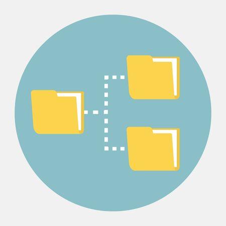 red informatica: Icono de red vectorial