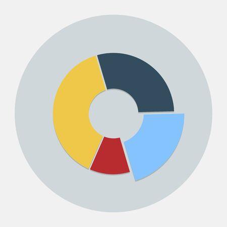 grafica de pastel: Vector icono gráfico circular Vectores