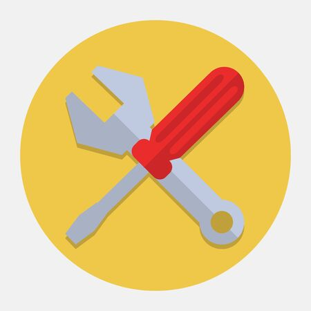 rebuild: Screwdriver And Wrench,Settings Icon Illustration