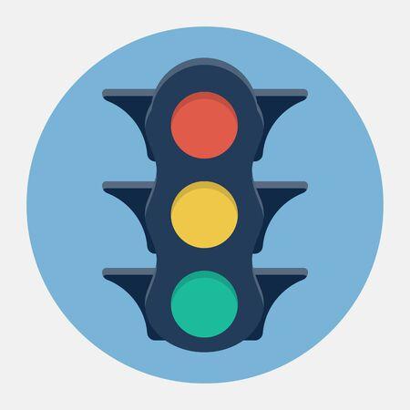 stop light: Vector traffic lights icon