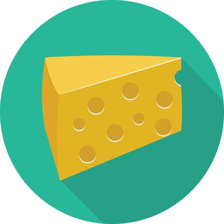cheez: Vector cheese icon Illustration