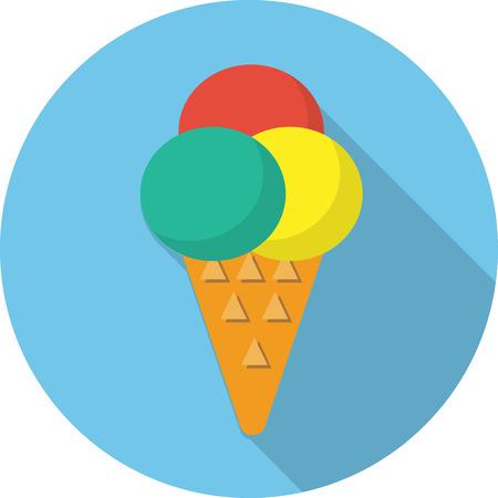 mixed nuts: Vector ice cream icon