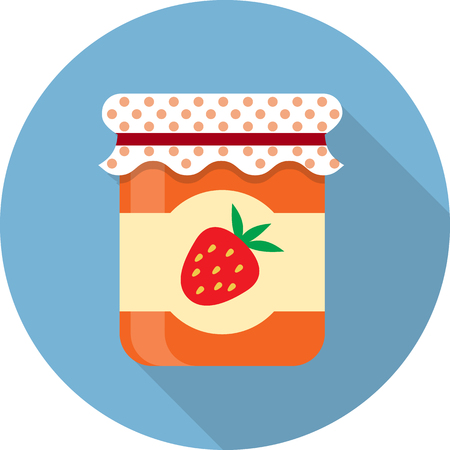 Vector jam jar icon Illustration
