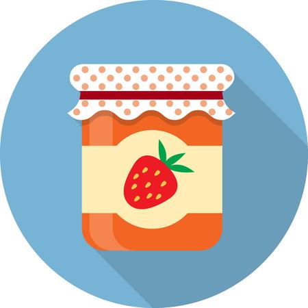 mermelada: Vector icono de tarro del atasco