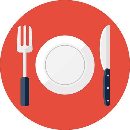 eating lunch: Vector restaurant symbol