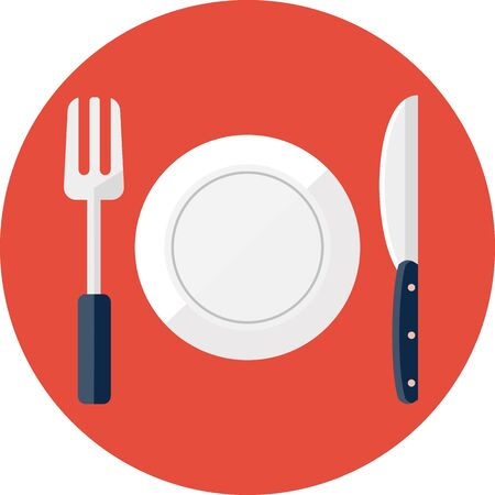 Vector restaurant symbool