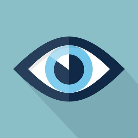 an eye icon: Eye icon, design element for mobile and web applications, eps 10 Illustration