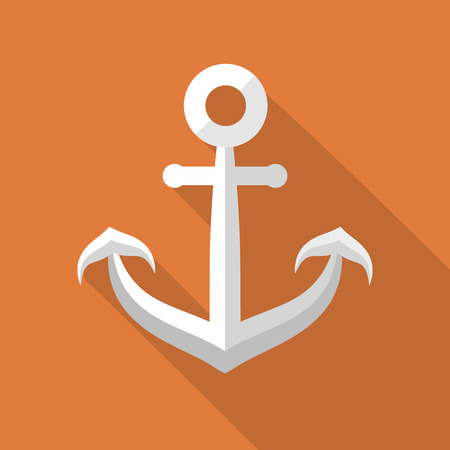 Vector Anchor icon, design element for mobile and web applications, eps 10 Illustration