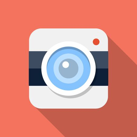 eps: Vector Camera icon, design element for mobile and web applications, eps 10