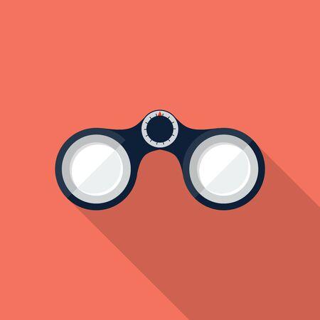 Icona binoculare vettoriale, elemento di progettazione per applicazioni mobili e web, eps 10