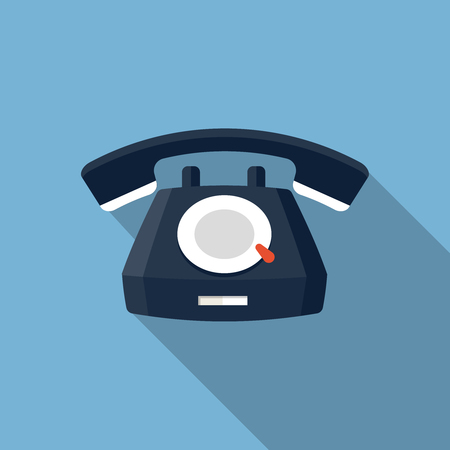 earpiece: Vector Telephone Icon, design element for mobile and web applications, eps 10