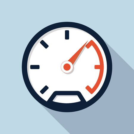 kilometer: Vector speedometer icon, design element for mobile and web applications, eps 10