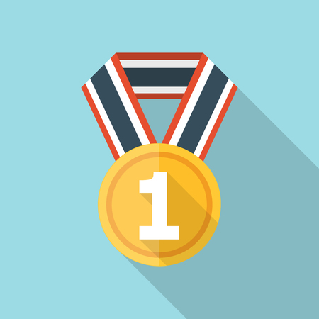 Vector Medal icon, design element for mobile and web applications, eps 10 Illustration