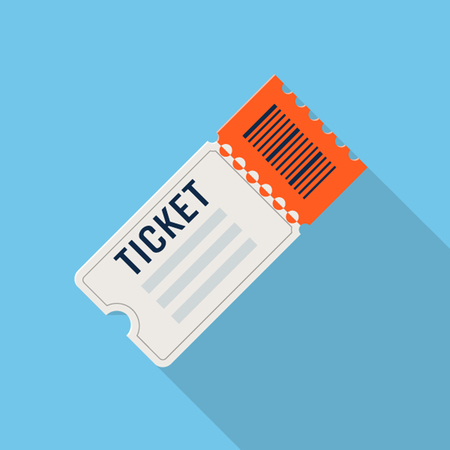 Vector ticket icon, design element for mobile and web applications, eps 10