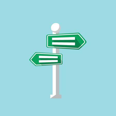 Vector road sign, design element for mobile and web applications, eps 10 Illustration
