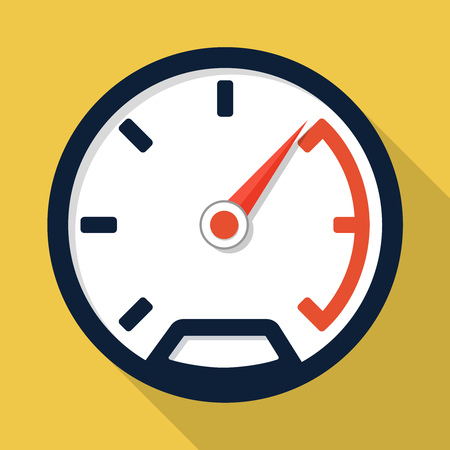 Vector speedometer icon, design element for mobile and web applications, eps 10