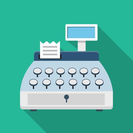 numpad: Cash register machine icon Illustration