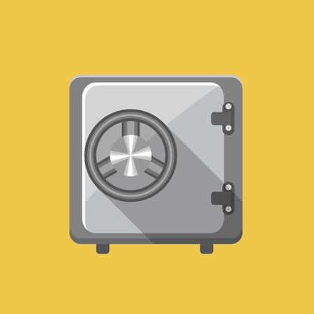 storage box: Vector Safe icon Illustration