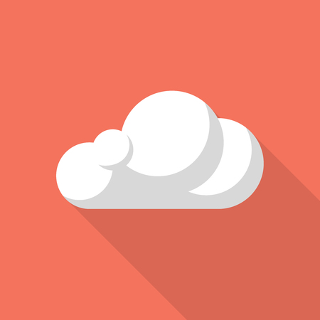 wheather forecast: Vector cloud icon