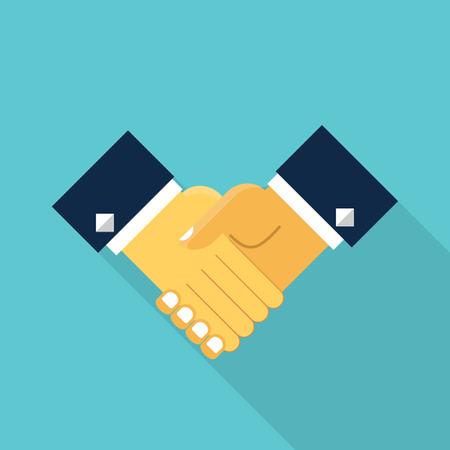 Beautiful concept of Vector handshake icon. Illustration