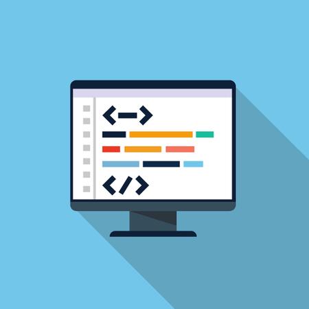 meta: Vector coding icon