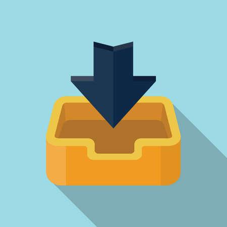 Vector download icon Illustration