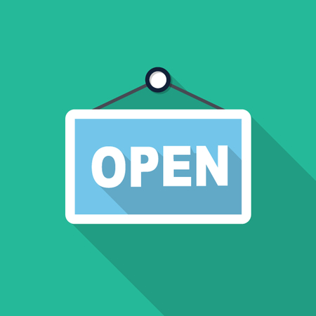sign store: Vector open store sign