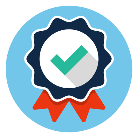 Approved flat icon style.
