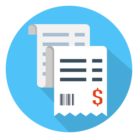 Vector sales receipt icon