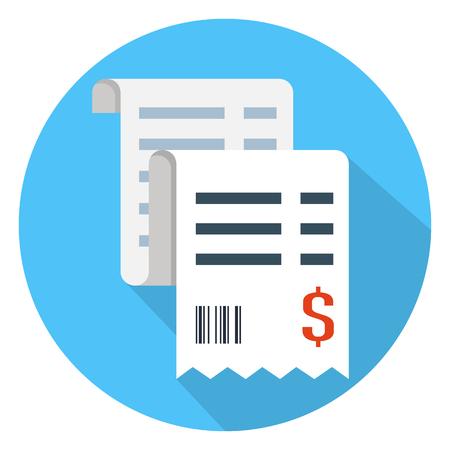 Vector verkoop ontvangst pictogram Stock Illustratie