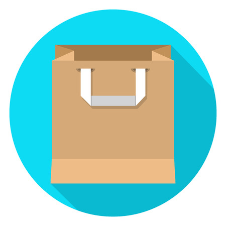 Paper Shopping Bag icon . Vector illustration. Illustration