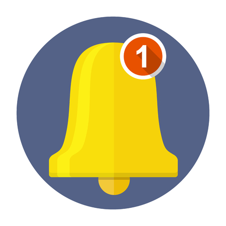New notification bell vector icon illustration.