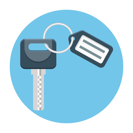 Key with Tag vector icon Illustration