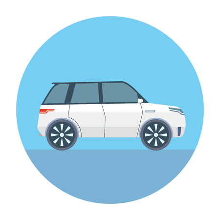 Sport Utility Vehicle SUV Vector Illustration flat style